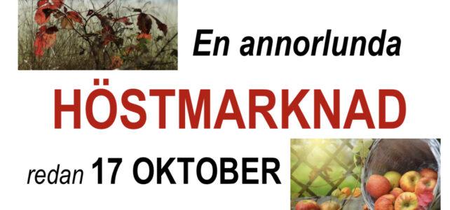 Årets Höstmarknad redan 17 oktober