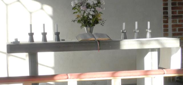 Gudstjänst med installation